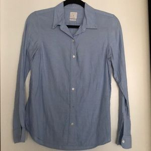 Gap fitted boyfriend blue blouse